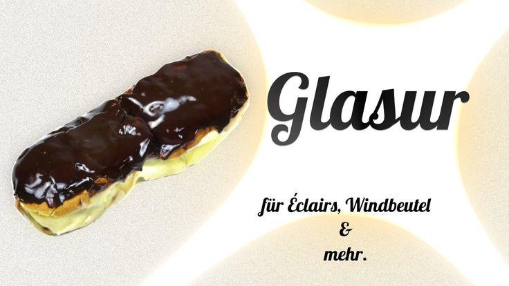 Schokoladenglasur einfach und schnell zuzubereiten.  Für Kuchen, Éclairs und mehr.  #glasur #schokoladenglasur #schokolade #backen #rezept #kochklub #derkochklub