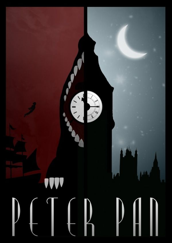 10 Alternate & Minimalistic Disney Movie Posters by Rowan Stocks Moore - Peter Pan