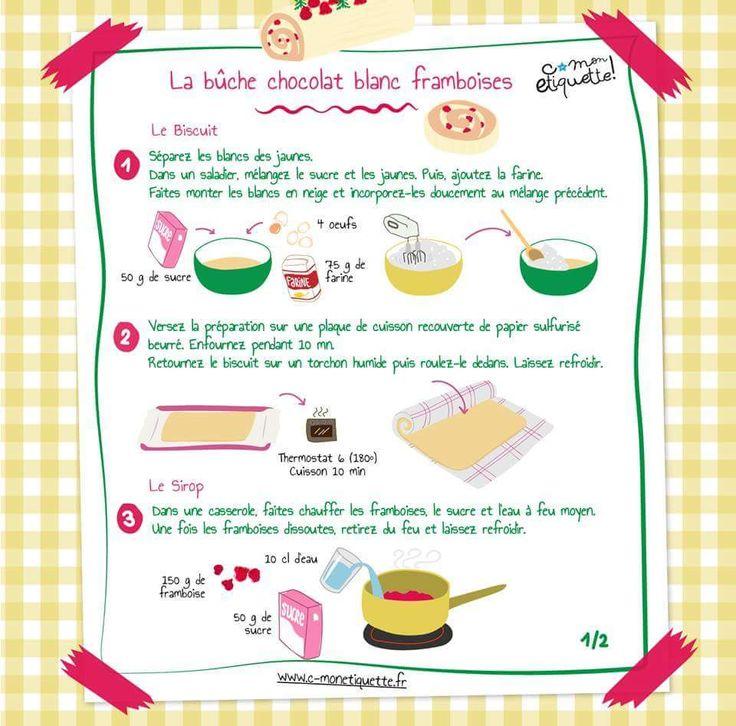 La bûche chocolat blanc framboises http://annso-cuisine.fr
