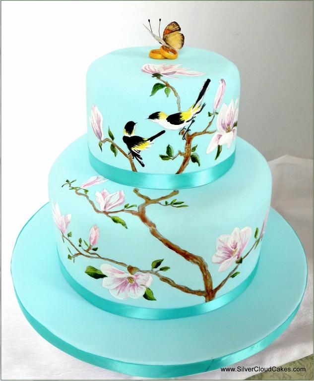 Silver Cloud Cakes Gallery Portfolio- Wedding Cake for Spring Wedding!!