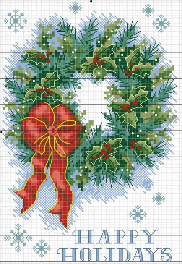 Schemi a punto croce gratuiti per tutti: Grande raccolta schemi a punto croce tema Natale