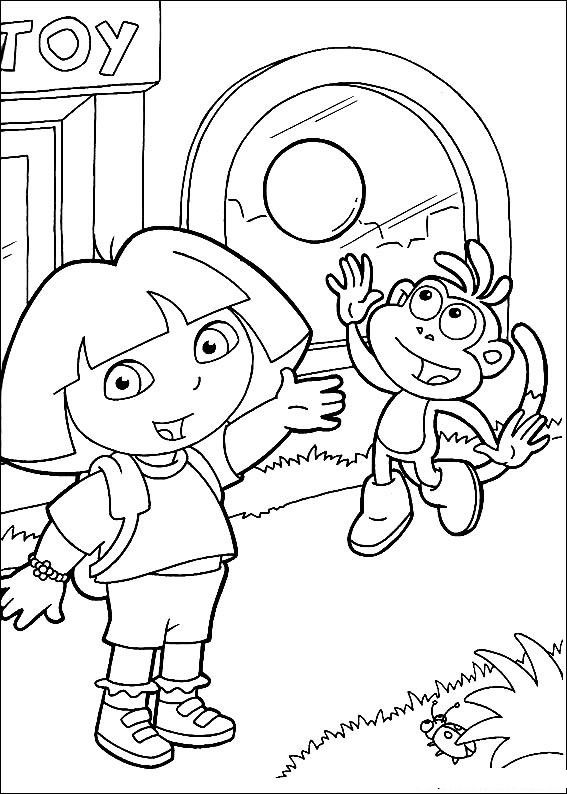 dora the explorere coloring pages - photo#27