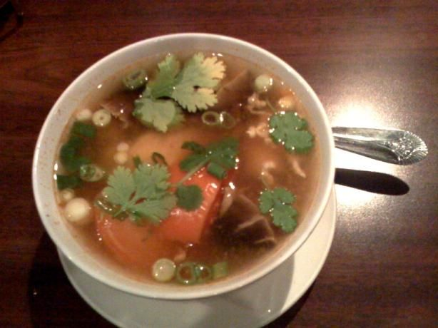 Thom yum soup- I love this stuff so much, I really need to learn to make it at home!!