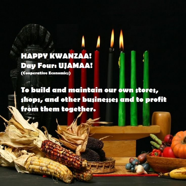 Ujamaa (Cooperative Economics): To build and maintain our own stores, shops, and other businesses and to profit from them together. Description from afrocentriqueaz.wordpress.com. I searched for this on bing.com/images