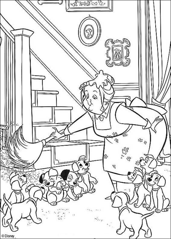 coloring page 101 Dalmatians Kids-n-Fun