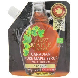 Shady Farms Pure Organic Maple Syrup Flexible Pouch 125 ml - an excellent buy as only small but affordable as a treat & it is the most excellent Maple Syrup too.