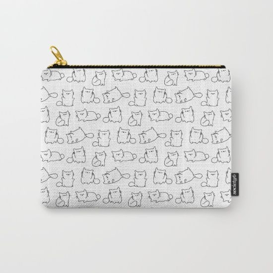Organize your life with one of our Carry-All Pouches. Available in three sizes with wrap-around artwork, these pouches are perfect for carrying toiletries, art supplies and makeup-or fit an iPad in the large one. Comes with the ever-awesome YKK zipper, a strong canvas-like exterior, a 50/50 poly-cotton black interior lining and is machine washable. Carry on, carry on.