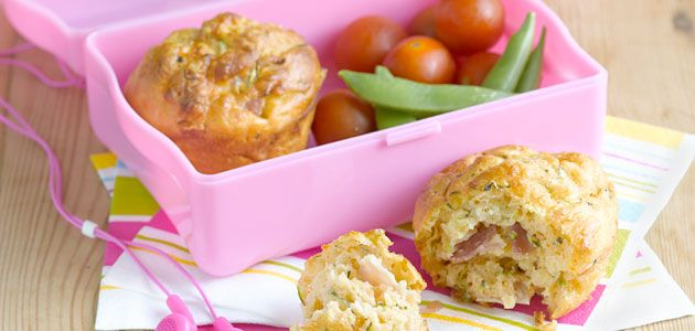 Cheese & ham muffins for Max's Lunch