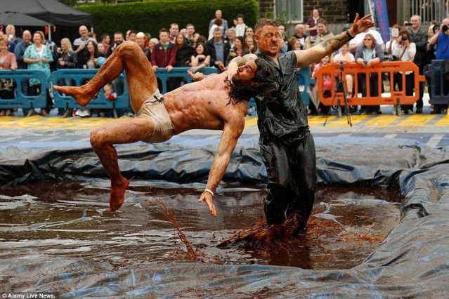 (PHOTO: Alamy Live News)  August Bank Holiday 2016: Things to do in the UK:  Lancashire: World Gravy Wrestling Championships  Placed in the top ten of the weirdest 'sports' and pastimes in 2010, the World Gravy Wrestling Championships is one of the world's quirkiest competitions. Now in its 6th year, fearless contestants will line up to battle it out to become this year's champion on 29 August and you can cheer them on as they wrestle in a pool full of Lancashire gravy. If the aroma...