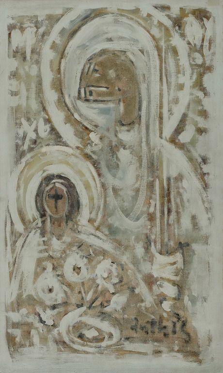 .:. Άνθης Δημήτριος – Dimitris Anthis [1925-1991] Παναγία, Συμφωνία σε λευκό, 1980-86