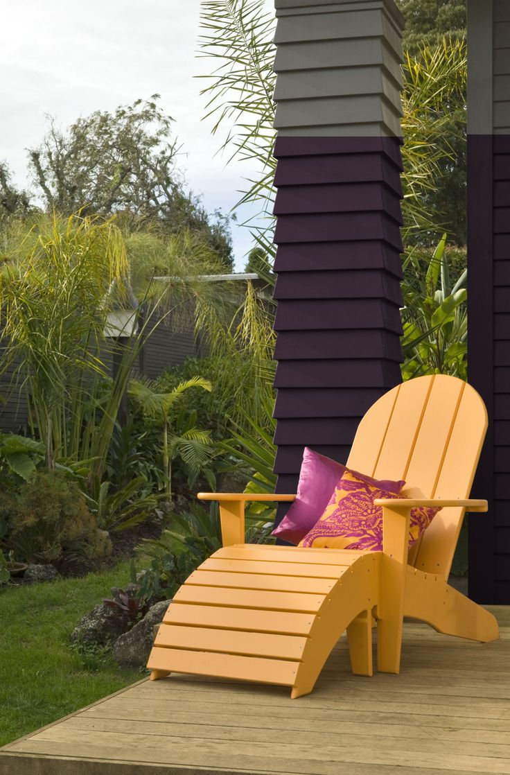 Resene Flashback chair with Resene Afficionado weatherboards.