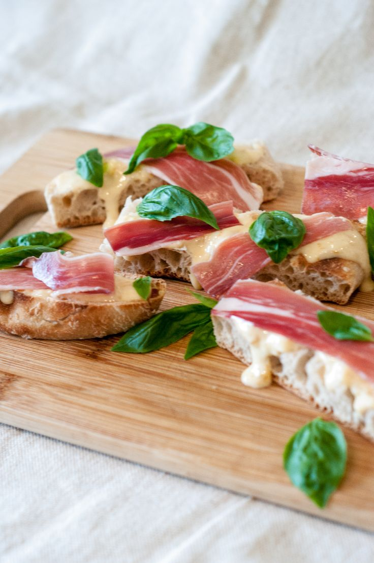 Quince & Prosciutto Bruschetta: A tasty side, starter or finger food, quince and prosciutto on crusty bread are so very easy to whip up with a little help from Barker's.