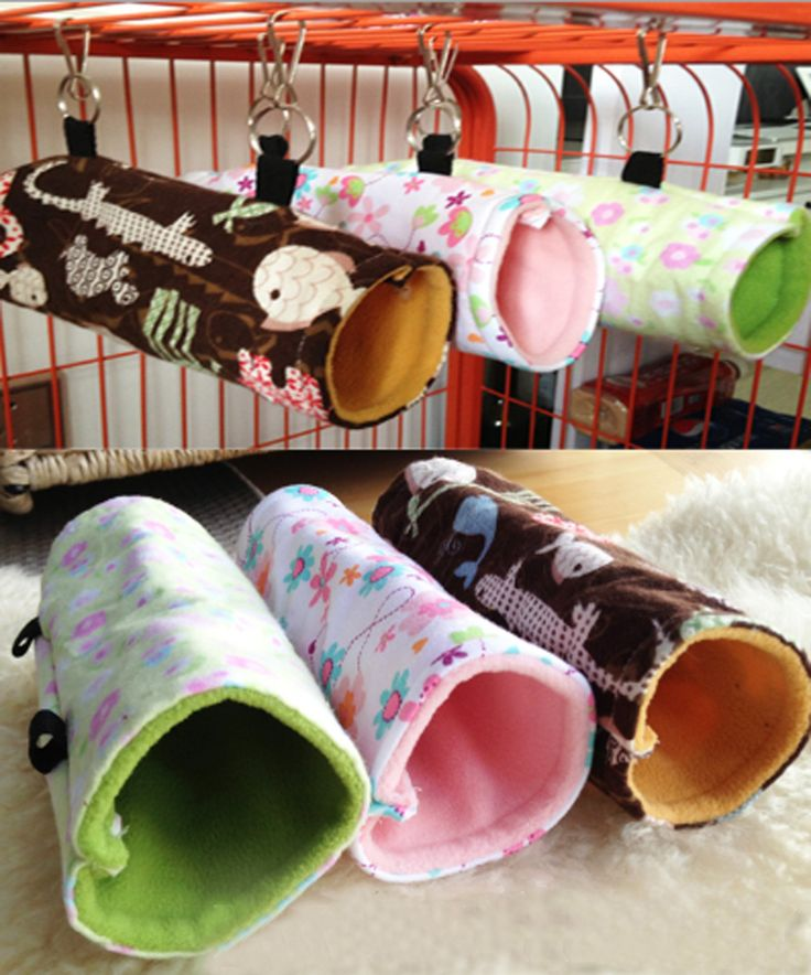 Generic Hammock for Rats Mice Small Birds Budgies Hanging Bed Fun Tunnel Toy House (Brown)