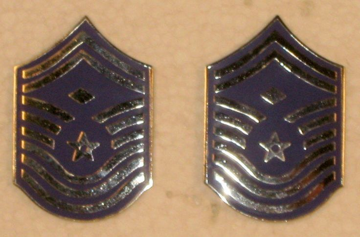 USAF US Air Force Chief Master Sergeant CMSgt First Sergeant Insignia Obsolete