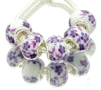 Porcelain Charm Beads European Charm Beads by WillingHandsDesigns, $2.50