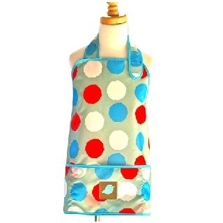 APRON SMOCK IMPERFECT DOTS - $21.95 - These stylish waterproof, stain-resistant Jaq Jaq Bird aprons are designed for the modern family who demands high style, excellent performance, and safety for their kids and the environment. #sweetcreations #kids #kitchen #gifts #designer #jaqjaqbird