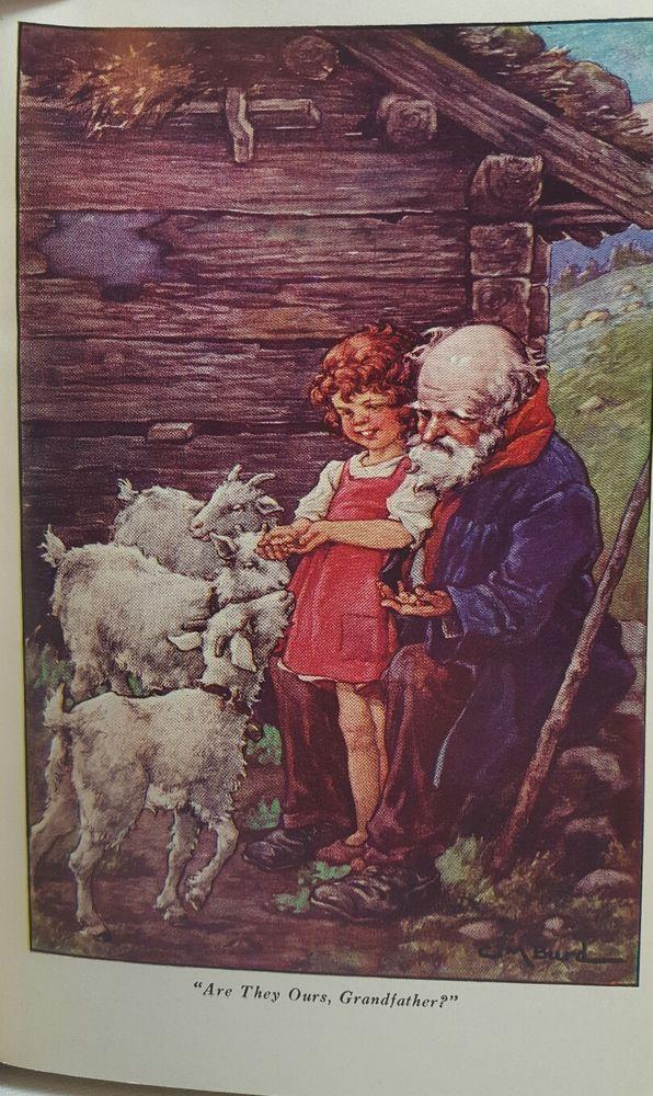 The childrens classics /vintage book/Heidi /johanna spyri/ clara m. burd  | eBay