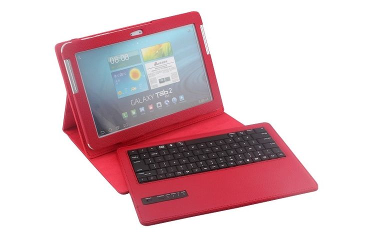 32.18$  Watch now - http://aiyq5.worlditems.win/all/product.php?id=32659134981 - Removable Wireless Bluetooth Russian/Hebrew/Spanish Keyboard Stand PU Leather Case For Samsung Galaxy Tab2 10.1 P5100 5110 P7510