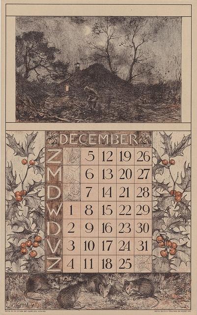 Edzard Koning, Kalender voor 1920 van de Nederlandsche Gist- en Spiritus Fabriek