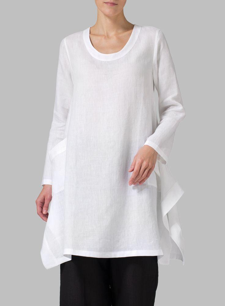 Linen Long Sleeve Top