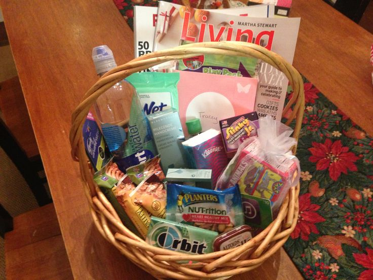 New Nursing Mom Gift Basket Magazines Snacks Gum Mints