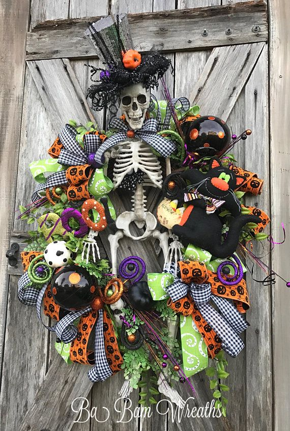 Top 25 Best Halloween Wreaths Ideas On Pinterest