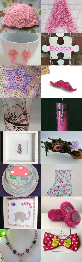 Pretty and Pink  by Vivienne Wilkes on Etsy--Pinned+with+TreasuryPin.com