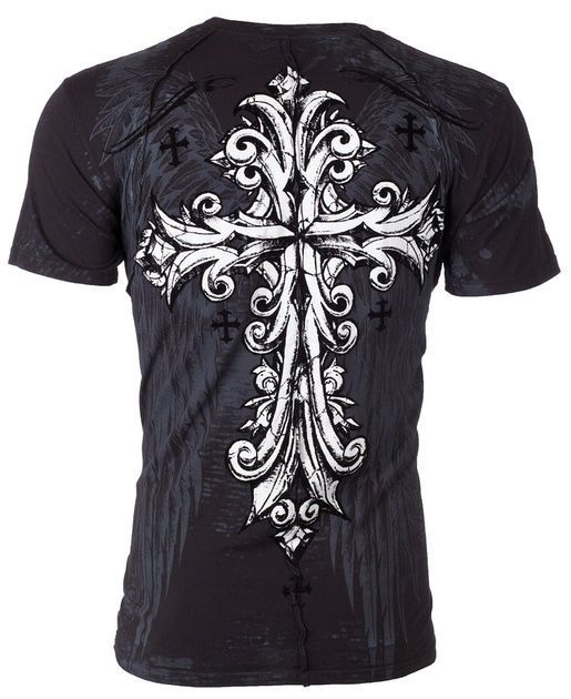 Xtreme Couture AFFLICTION Men T-Shirt TROUBLESOME Tattoo Biker MMA UFC S-4XL $40 #Affliction #GraphicTee