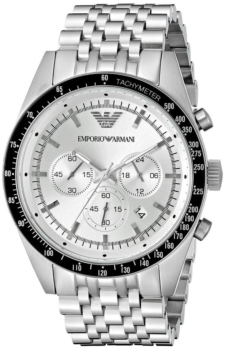 Montre Emporio Armani AR6073 - Homme - Quartz - Analogique - Cadran et Bracelet en Acier inoxydable Argent - Date - Etanche 5 bar - Montre Armani Homme