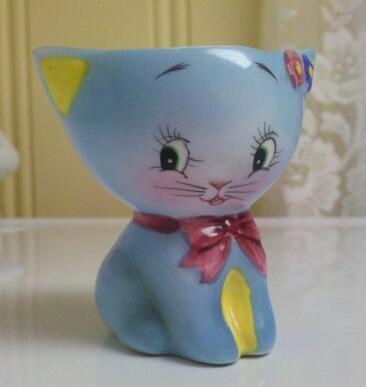 norcrest | Norcrest Blue Cat Egg Cup | Flickr - Photo Sharing!