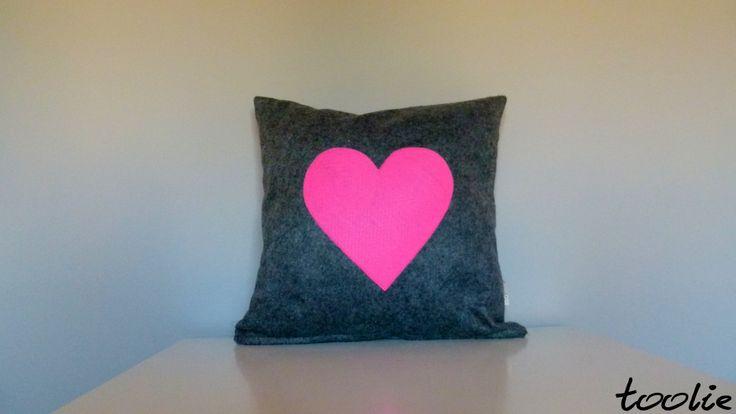 Sweet pillow made from flet. www.facebook.com/tooliepolska