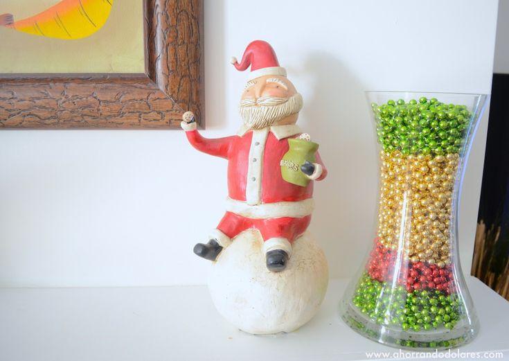 Decoraciones para navidad econ micas con adornos de for Decoraciones rusticas para navidad