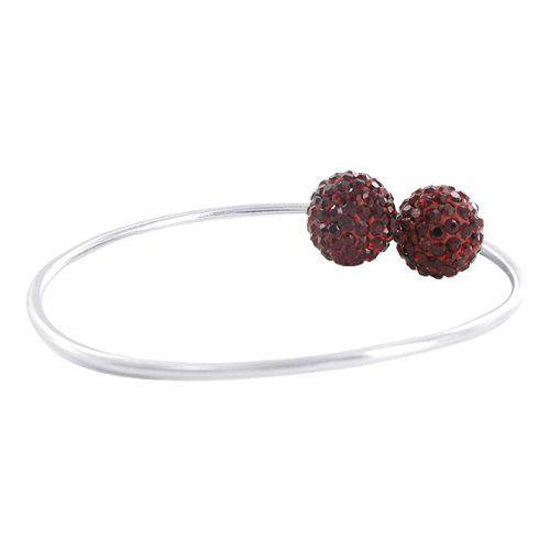 Sterling Silver 12mm Round Sparkling Garnet Crystal Cuff Bracelet Gem Avenue. $21.99. 12mm studded balls. Adjustable cuff bangle/bracelet. 3mm band. Gem Avenue SKU # AFBS018. Save 62%!