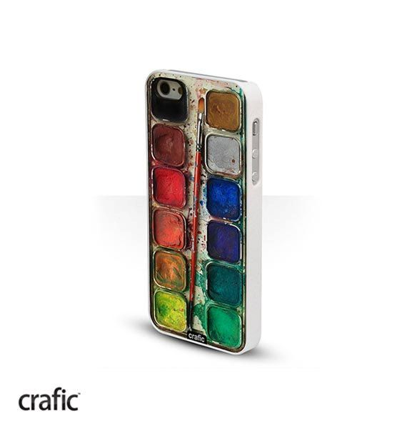 Watercolor Set White iPhone 5 Case Water color iPhone 5S by CRAFIC