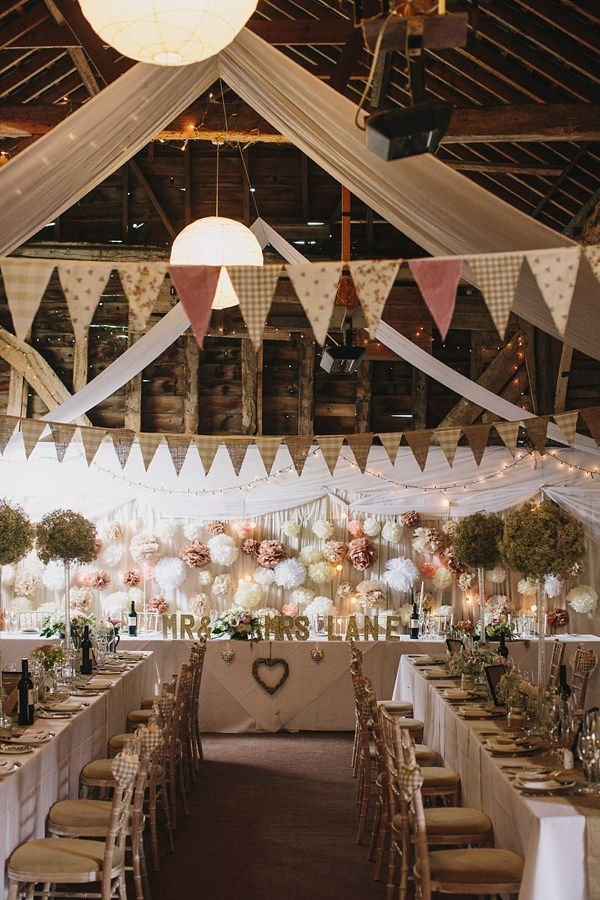 What a lovely farmhouse wedding reception