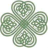 Bilderesultat for celtic knot shamrock