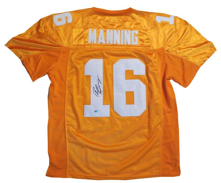 Peyton Manning Autographed Tennessee Football Jersey - Mounted COA Peyton Manning Autographed Tennes signed autographed