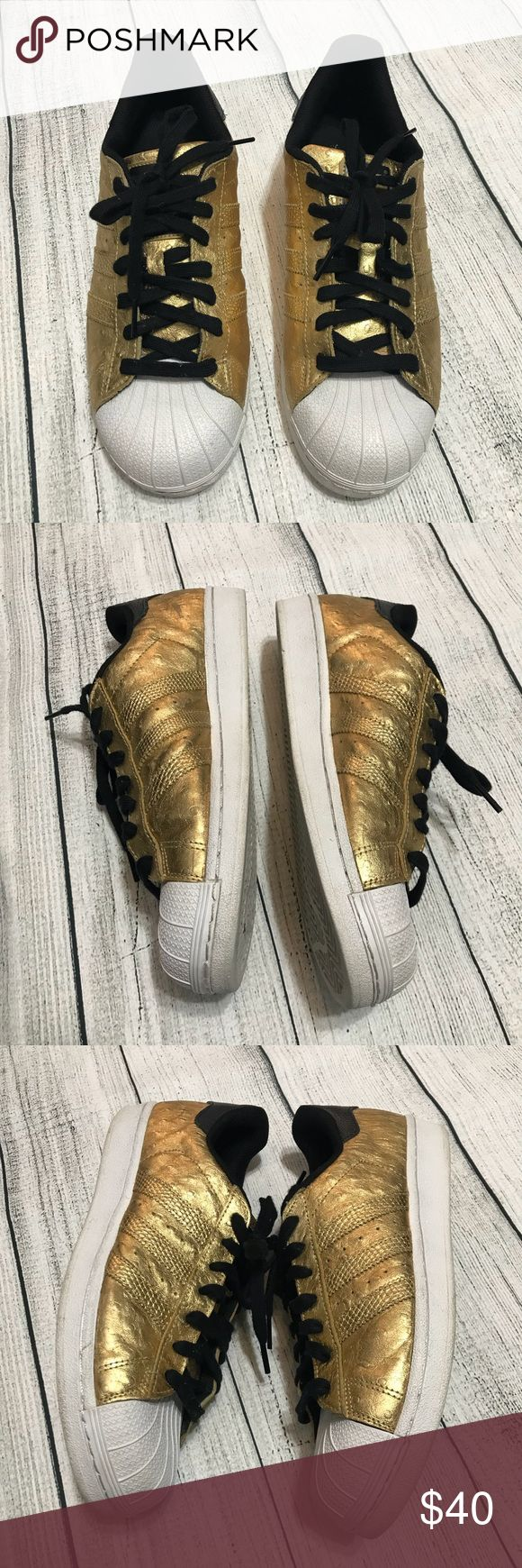 Adidas La Marque Gold Sneakers Size Men's 9 Adidas La Marque Gold Sneakers Size Men's 9 Good condition; no damage; adidas Shoes Sneakers