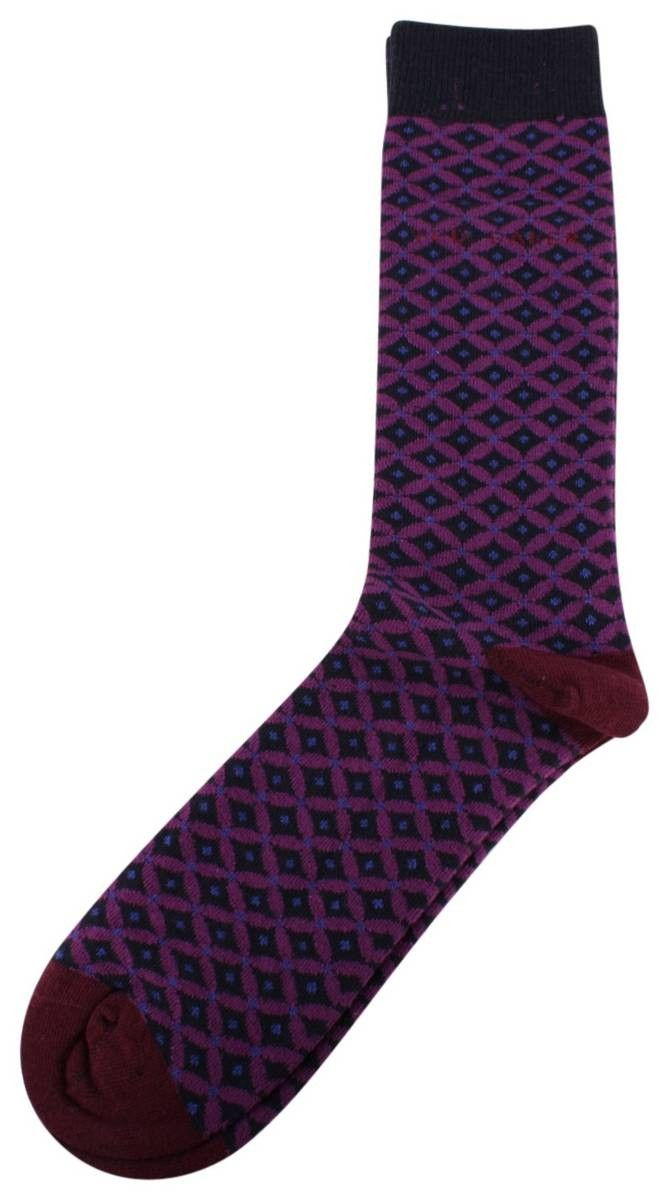 Ted Baker Belinta Geo Pattern Socks - Navy | Navy Ted Baker Socks | KJ Beckett