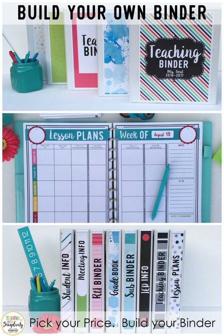 Are you overwhelmed with all the teacher binder options? Are you looking for the perfect binder, but can't find it? Maybe you need some of its contents but not all of them.  Who wants to pay for what they don't need?!?!   Look no further! Now you can build your own teacher binder and pay for only what you want!  That's right!!!  Build Your Own Binder!