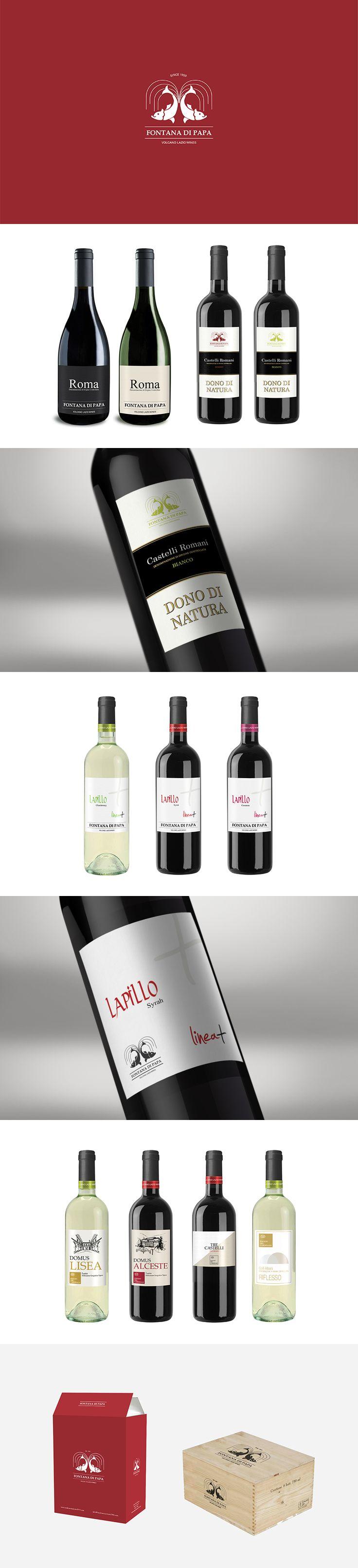 Fontana di Papa, Label Design ─ Giulio Patrizi Design Agency ©   #wine #bottle #label #design