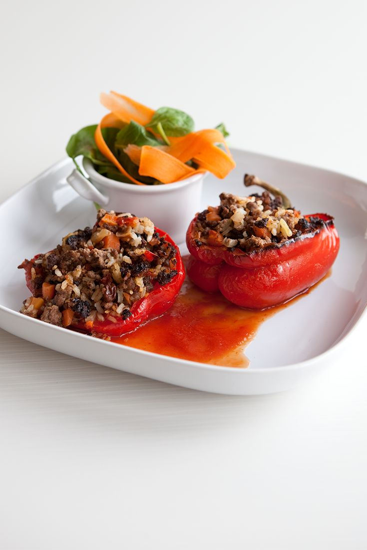 #Epicure Marinara Stuffed Peppers #portioncontrol