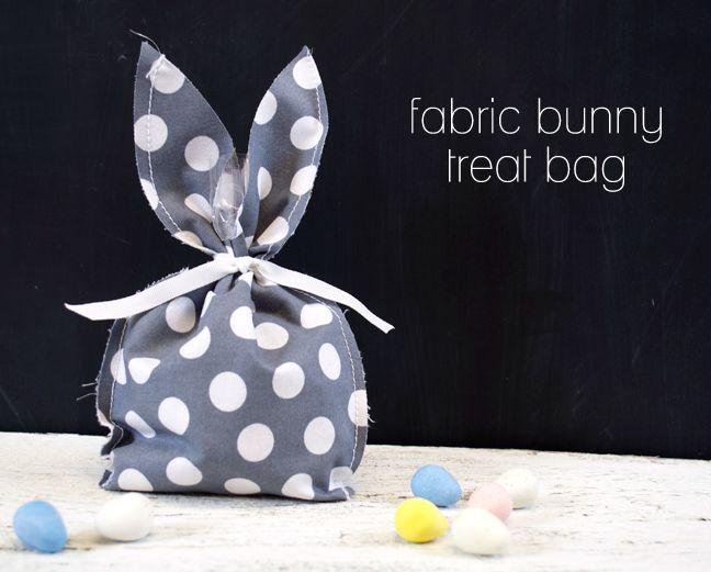 Silhouette America Blog | DIY Fabric Bunny Treat Bag for Easter