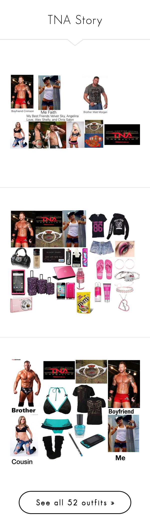 """TNA Story"" by chylove ❤ liked on Polyvore featuring ANGELINA, TNA, Rebel Spirit, Hello Kitty, Motorola, Revlon, Rockland Luggage, Sony, Victoria's Secret and Candie's"