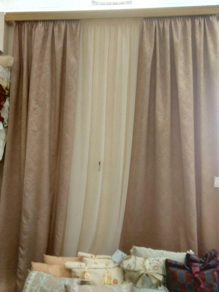 vk.com:shtorikrasotavdom .Комплект штор : 2пол. Шир.1,5м высота 2,8м , тюль шир.5м.высота 2,8 м. Цена со скидкой 14450руб.