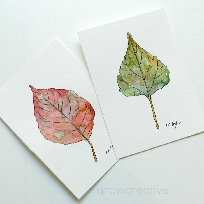 How to Paint a Leaf in Watercolors | Grow Creative | Bloglovin'