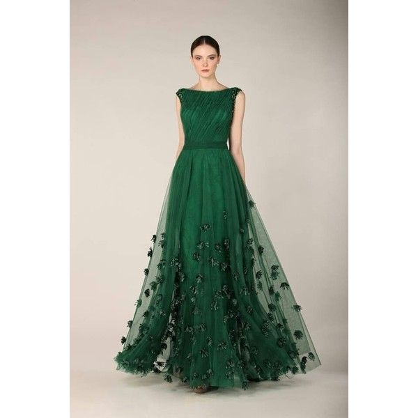 Emerald gown, stunning. | Emerald Gown, Emeralds and Gowns | Lovely... ❤ liked on Polyvore featuring dresses, gowns, green color dress, emerald green dresses, green evening dress, emerald green evening dress and emerald green evening gown