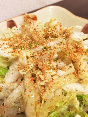 合えるだけ - 白菜サラダ #Recipe ##within 5 minutes #vegetable #side-dishes #白菜 #副菜 #簡単 #時短