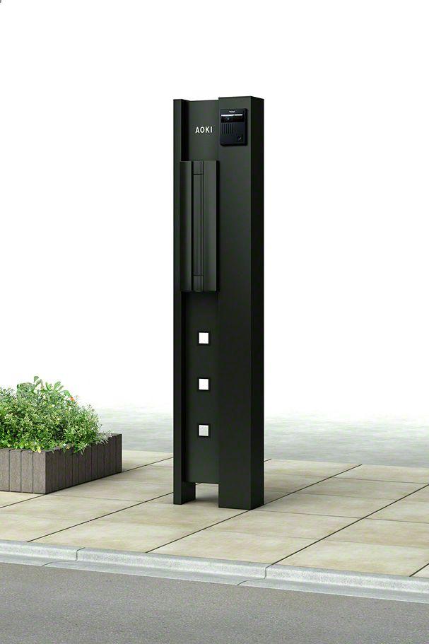 ルシアスポストユニット Bk02型 Ykkap 機能門柱 ポストならエクスショップ 機能門柱 門柱 エクステリアプランナー