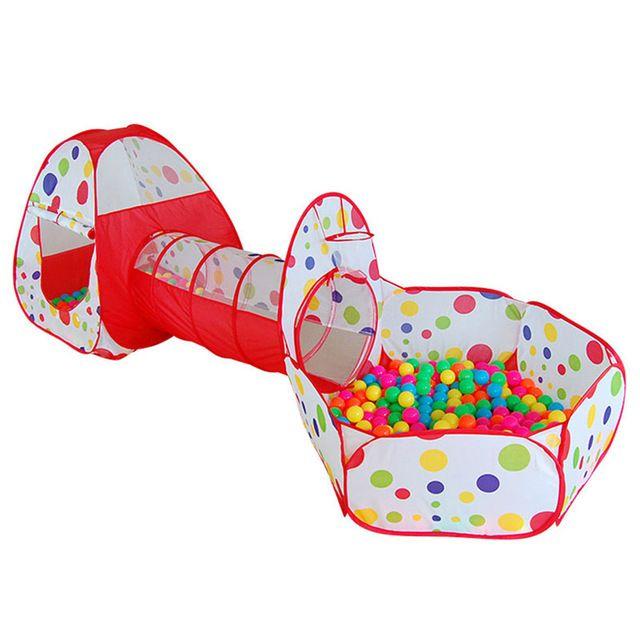 Piscina De Bolas Carpa Casa de Juegos para niños Bebé Corralito Tubería Gran Juego de arrastre Del Océano Piscina de Bolas Bebé Educativa envío gratis WJ311
